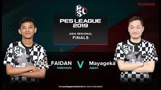 FINAL PES LEAGUE ASIA PES 2019 ZEUS FAIDAN (INA) VS MAYAGEKA (JPN)