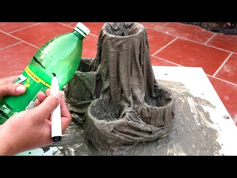 DIY ❤️ - BEAUTIFUL AND EASY - The idea of making a cement pots growing Cactus - Beautiful home
