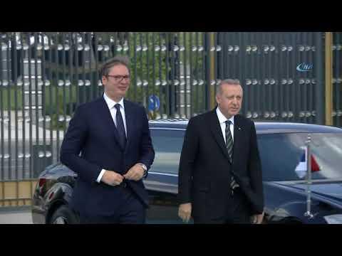 Cumhurbaşkanı Erdoğan, Sırbistan Cumhurbaşkanı Vuçiç'i Karşıladı