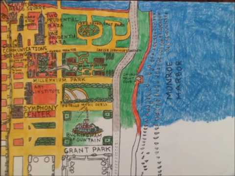 Downtown Chicago Map (Stop motion)