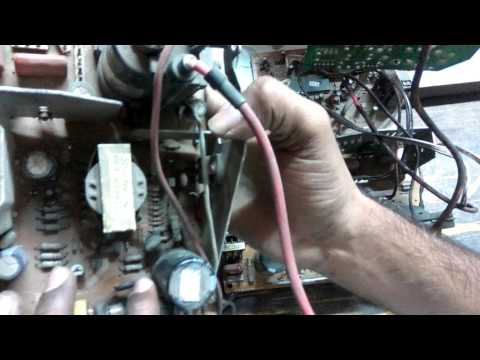 how to repair dead crt tv power supply fault