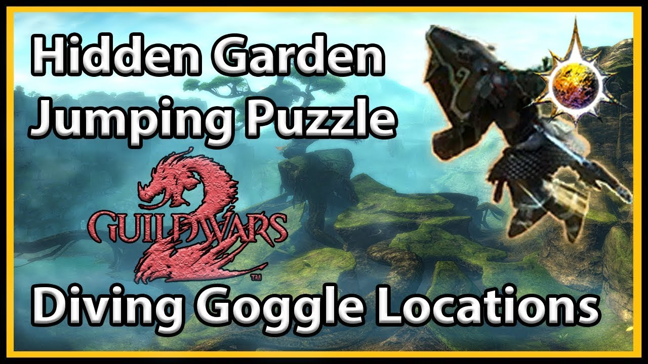 Guild Wars 2 Hidden Garden Jumping Puzzle And Goggle Spots Youtube