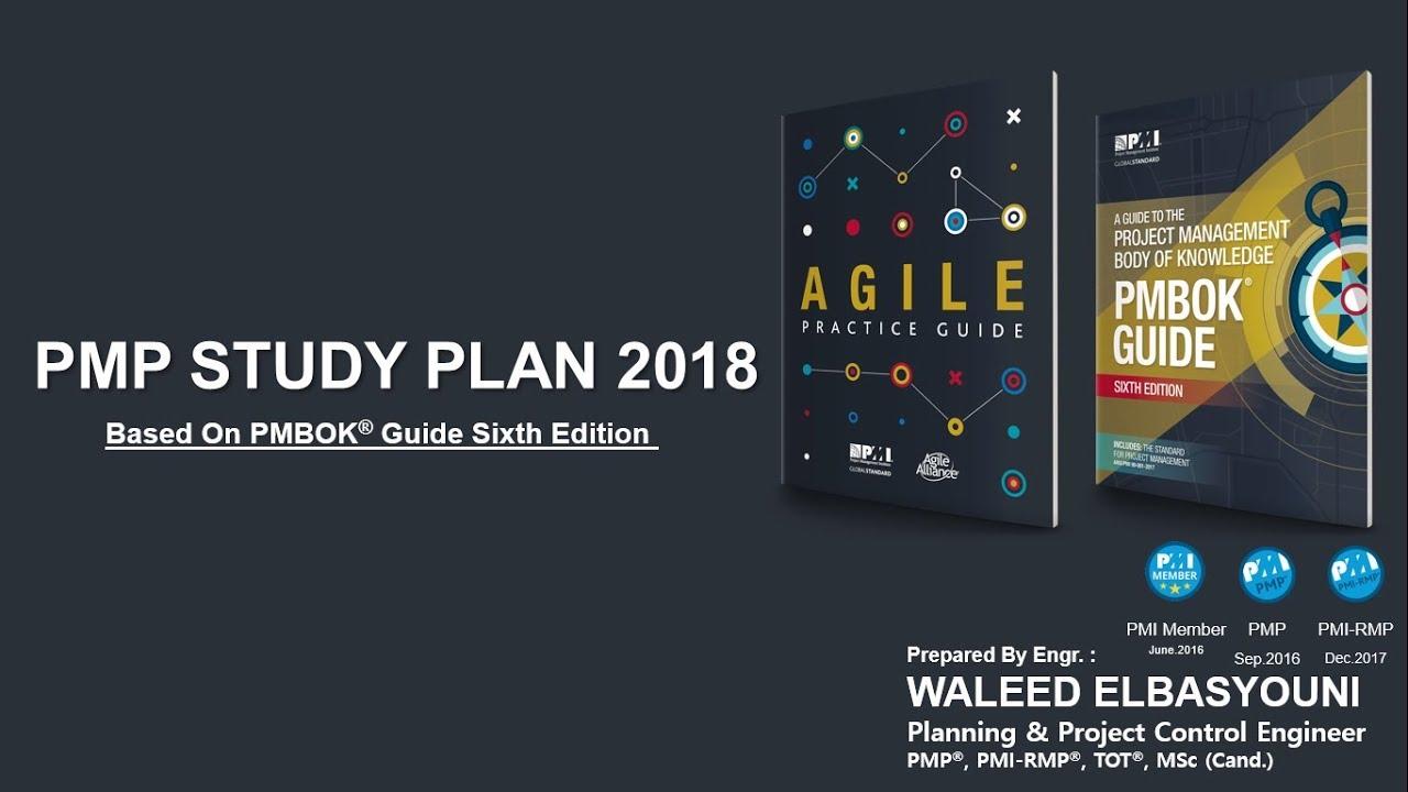 Pmp Study Plan 2018 Based On Pmbok 6th