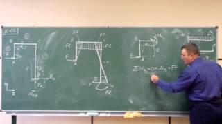 Сопротивление материалов. K-02 (консольная плоская рама).