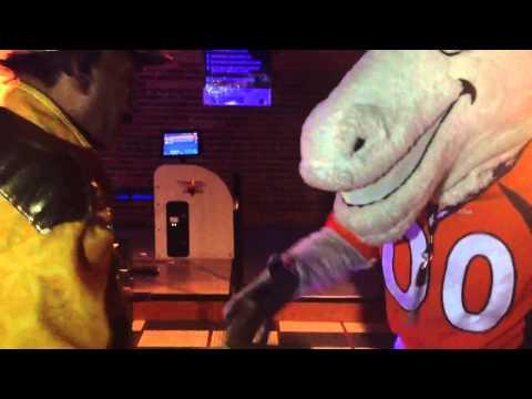 Miles - Denver Broncos Mascot - Bronco Handshake