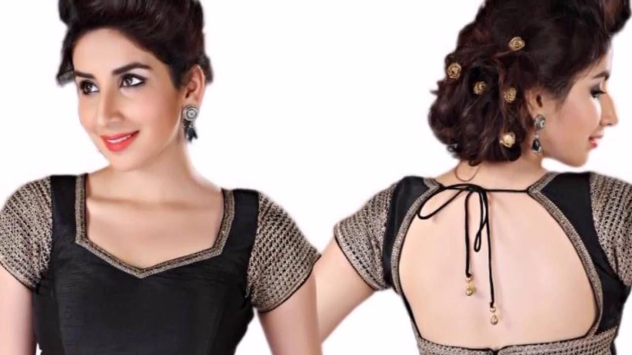 Blouse neck back design for Dijain photo