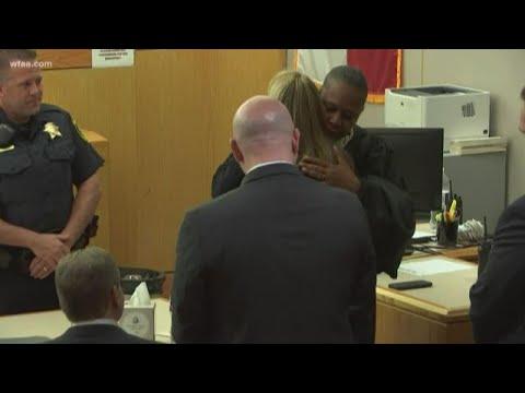 Judge hugs Amber Guyger, hands her bible after sentencing