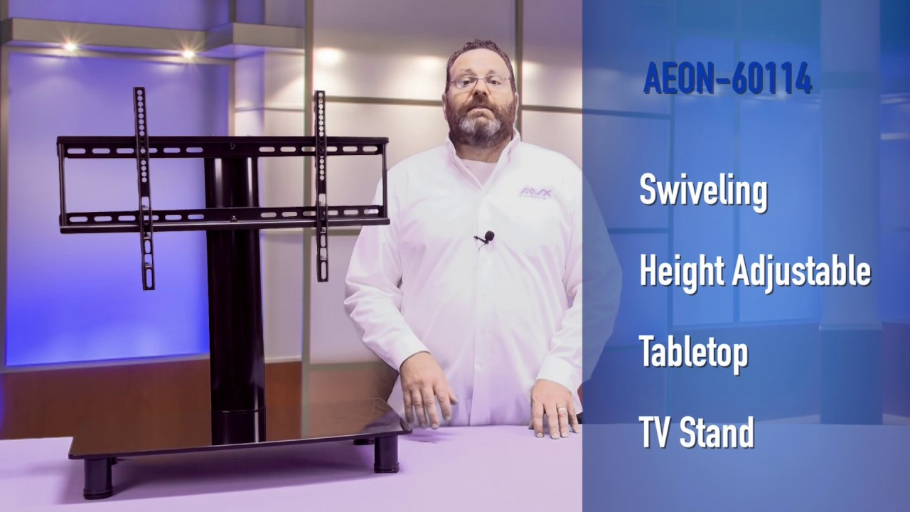 Universal TV Stand With StorageAEON YouTube - Abt tv stands