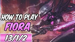 HOW TO PLAY FIORA | New Build & Runes | Diamond Commentary | PROJECT: Fiora | League of Legends | S9