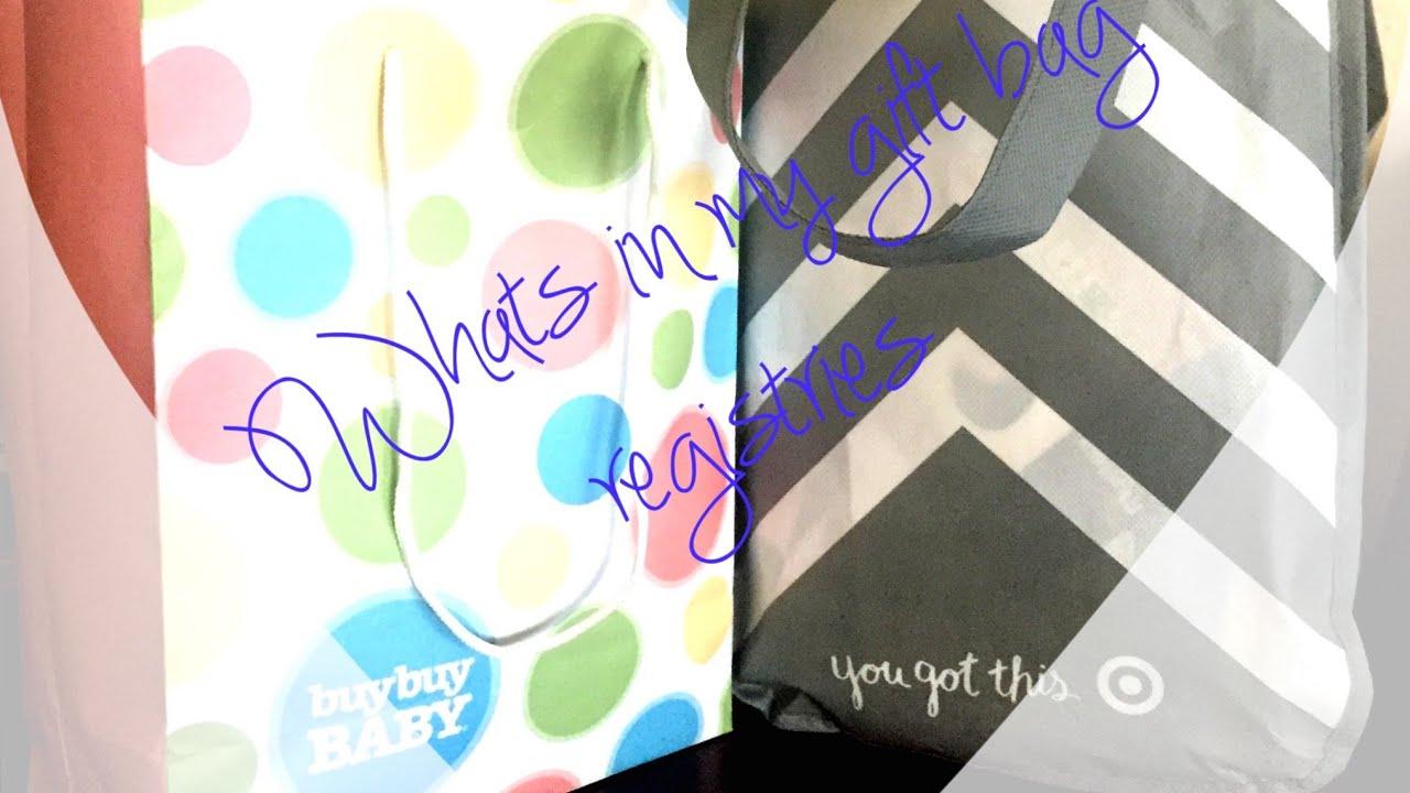 WHATS IN MY TARGET& BUY BUY BABY REGISTRY GIFT BAGS ...