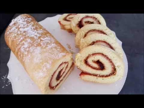 recette-de-gâteau-roulé-à-la-confiture-|-cooking-with-me
