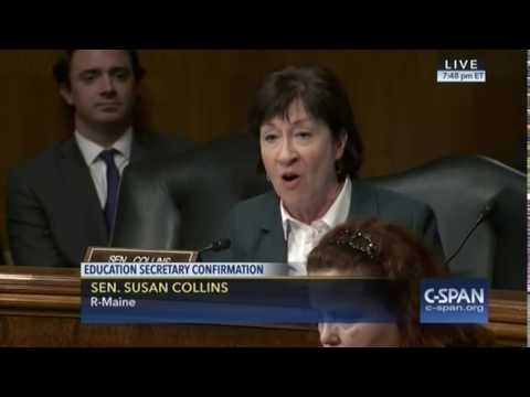 """Sen. Collins: """"I Have No Doubt That You Care Deeply About The Education Of All Children."""""""