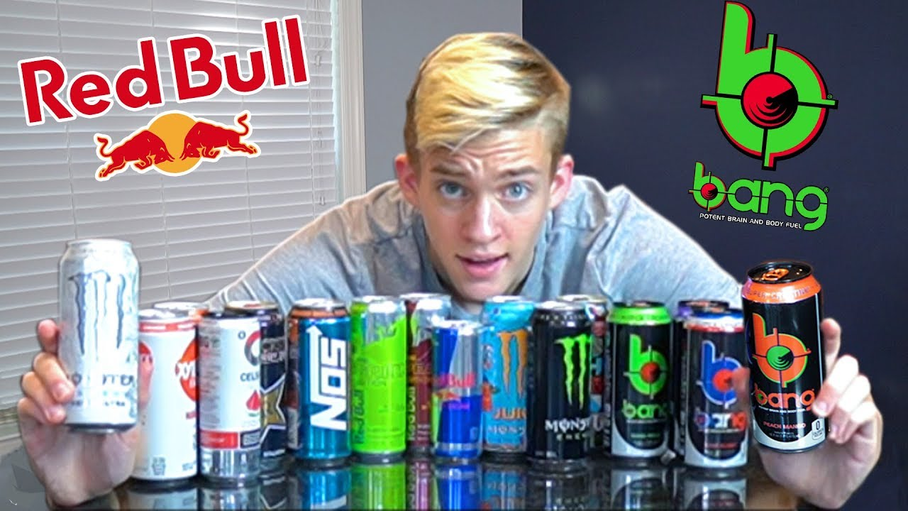 TRYING ENERGY DRINKS FOR THE FIRST TIME (and rating them