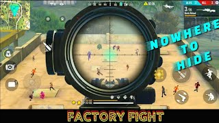 FREE FIRE FACTORY FIGHT HACKER - FF FIST FIGHT ON FACTORY ROOF - GARENA FREE FIRE - AWM