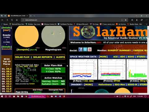 Solar Activity Propagation report  week of May 14th 2018