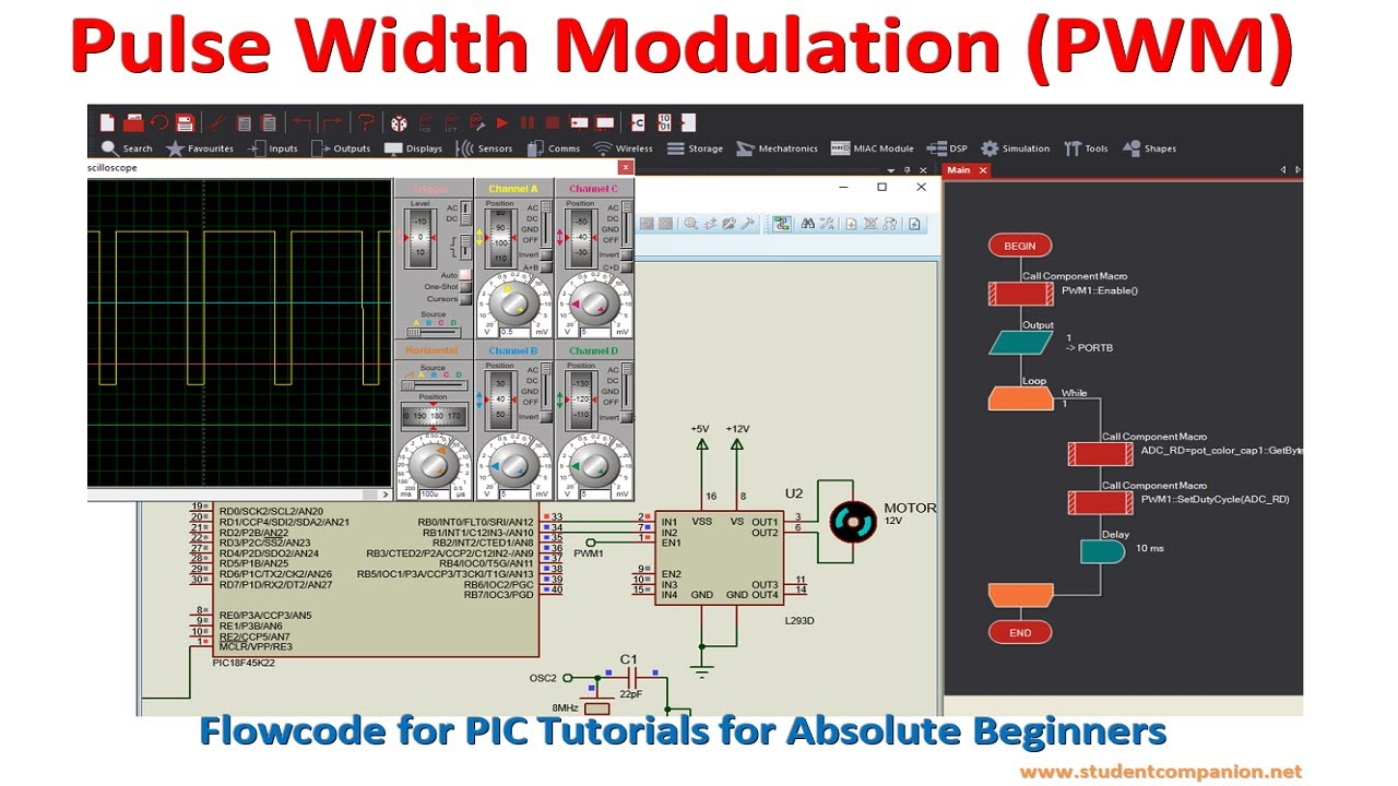 Pulse Width Modulation (PWM) with PIC Microcontroller