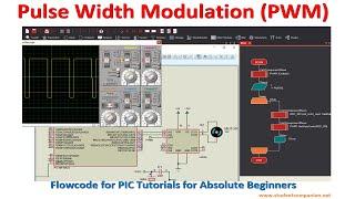 Flowcode Beginners Tutorial -14- Pulse Width Modulation (PWM)