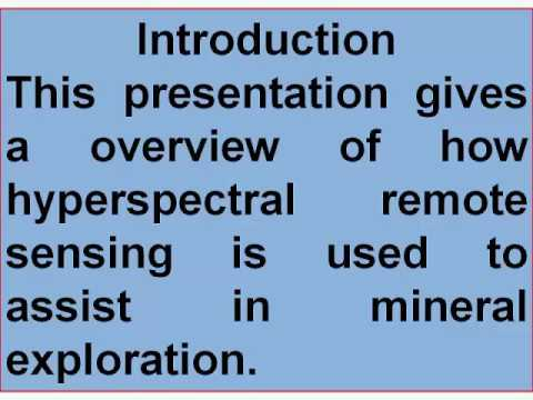 f  HRS & its applications in mineral exploration
