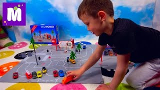 Машинки и набор Зику Город автомойка автосалон играем машинками SIKU City set with Cars toys