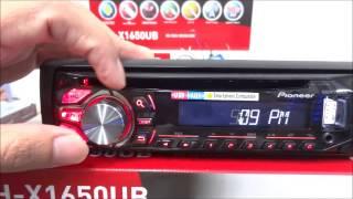 SET TIME PIONEER DEH X1650UB CAR AUDIO การตั้งเวลาเครื่องเสียงรถยนต์ ไพโอเนียร์ By p one Video