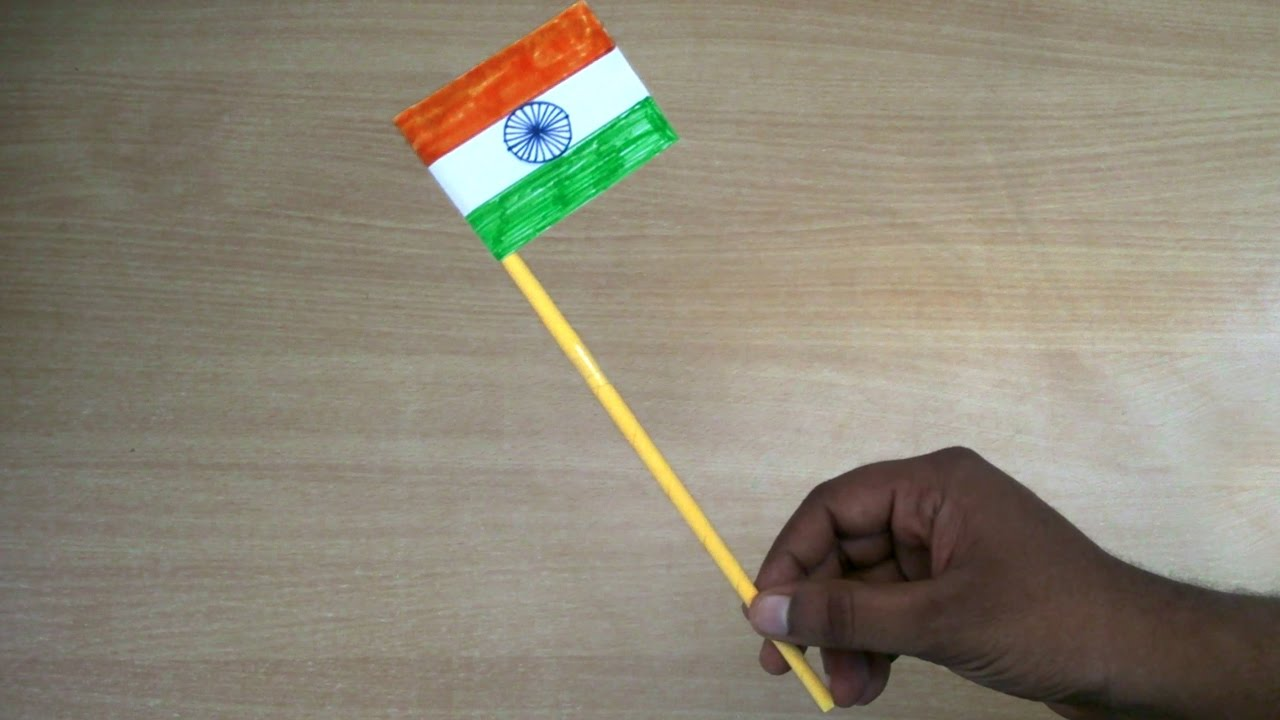 Craft For Flag Of India: How To Make A Indian Flag - YouTube