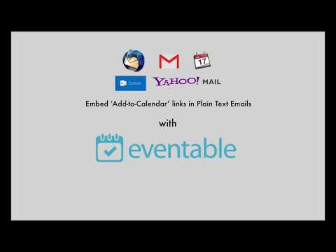 How to include Add to Calendar links in Gmail, Outlook, Yahoo emails