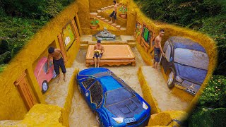 60 Days Building Modern Underground King Room With Super Car Staging In Underground House