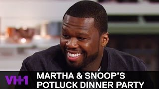 50 Cent Watches Snoop Get Sensual w/ His Pizza 'Sneak Peek' | Martha & Snoop's Potluck Dinner Party