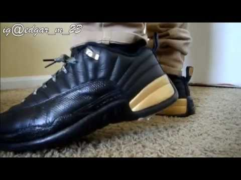 Air Jordan 12 Low Top Custom Gold Rush 12s