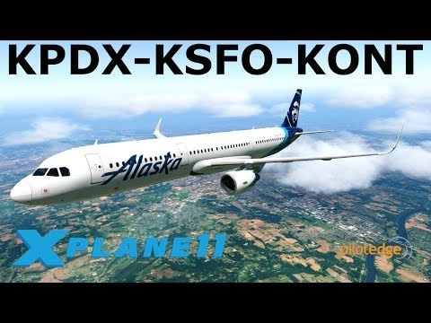 ***Toliss A321 BETA Preview***  | A321 | PilotEdge | Portland, San Francisco & Ontario | X-Plane 11
