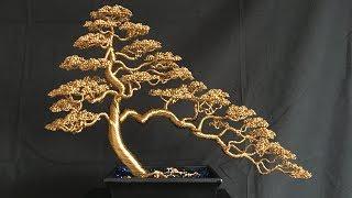 Informal Upright/Cascade Bonsai Wire Tree Timelapse