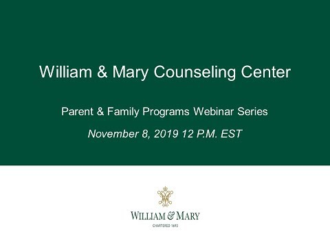 W&M Counseling Center Webinar