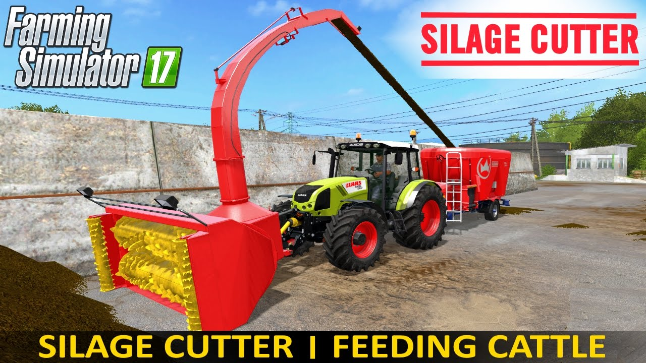 Farming Simulator 17 SILAGE CUTTER | FEEDING CATTLE