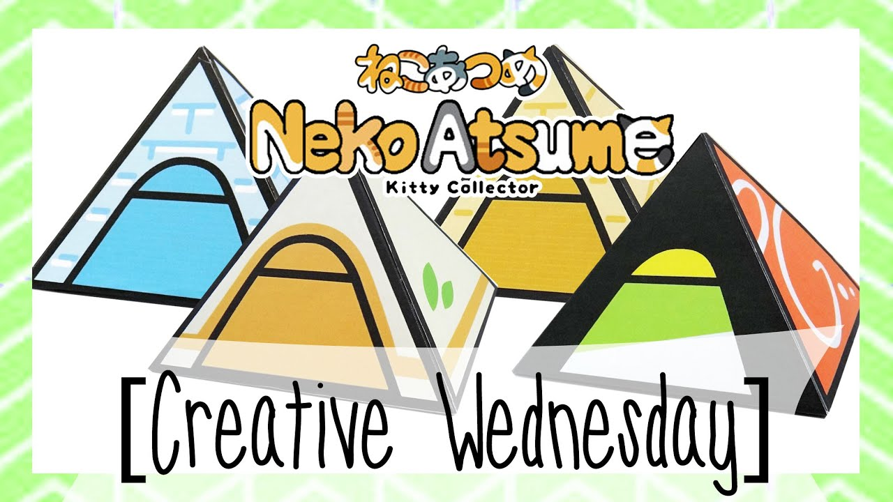 DIY NEKO ATSUME MINI TENT GIFT BOX/DECOR! (FREE TEMPLATE) [CREATIVE ...