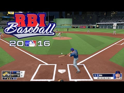 RBI Baseball 16 (PS4) Mets vs Pirates Gameplay (Full 5 inning Game)