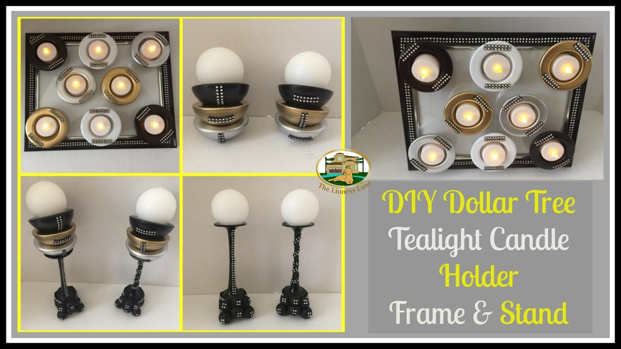 dollar tree diy candle holder bathroom decor