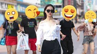 美女在中国街头走一小时,会吸引多少男人的目光?(趣味测试)