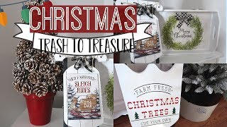 CHRISTMAS TRASH TO TREASURE | FARMHOUSE THRIFT STORE MAKEOVERS | THRIFT TO TREASURE