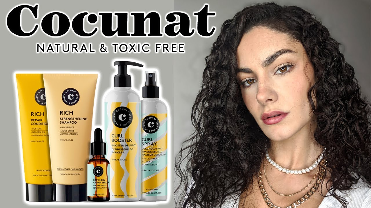 Testing Reviewing Cocunat Curly Hair Products Alya Amsden Youtube