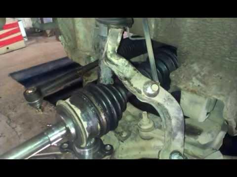 Как заменить рулевой наконечник, шаровую, пыльник ( Toyota Hiace)