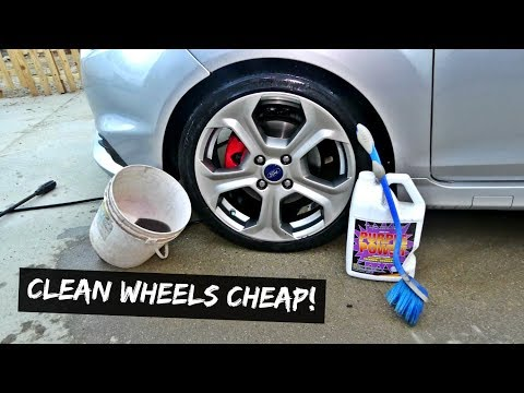 HOW TO WASH YOUR WHEELS CHEAP. WASH BRAKE DUST
