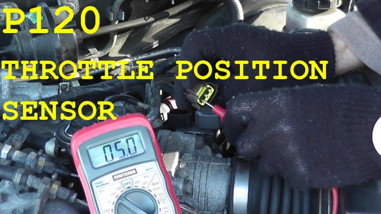 hight resolution of how to test and replace the throttle position sensor tps p0120 youtube