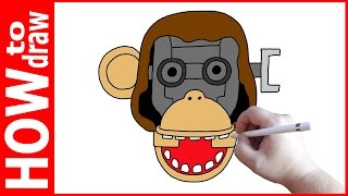 How to draw Chester Jumpscare, Five nights at Candy