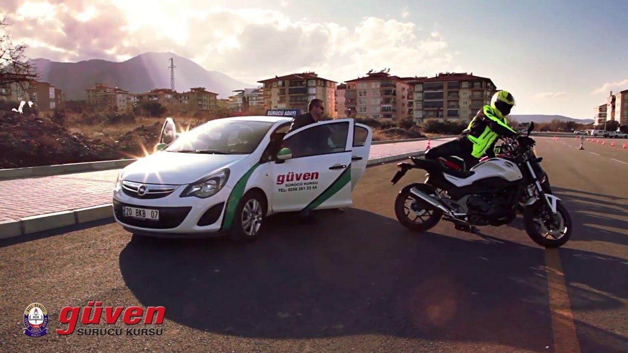 motosiklet sinavi videosu guven