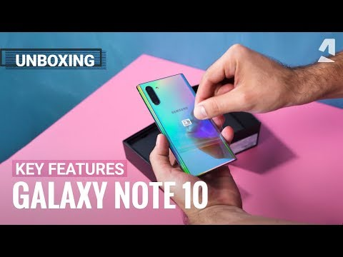 Samsung Galaxy Note10 unboxing and key features