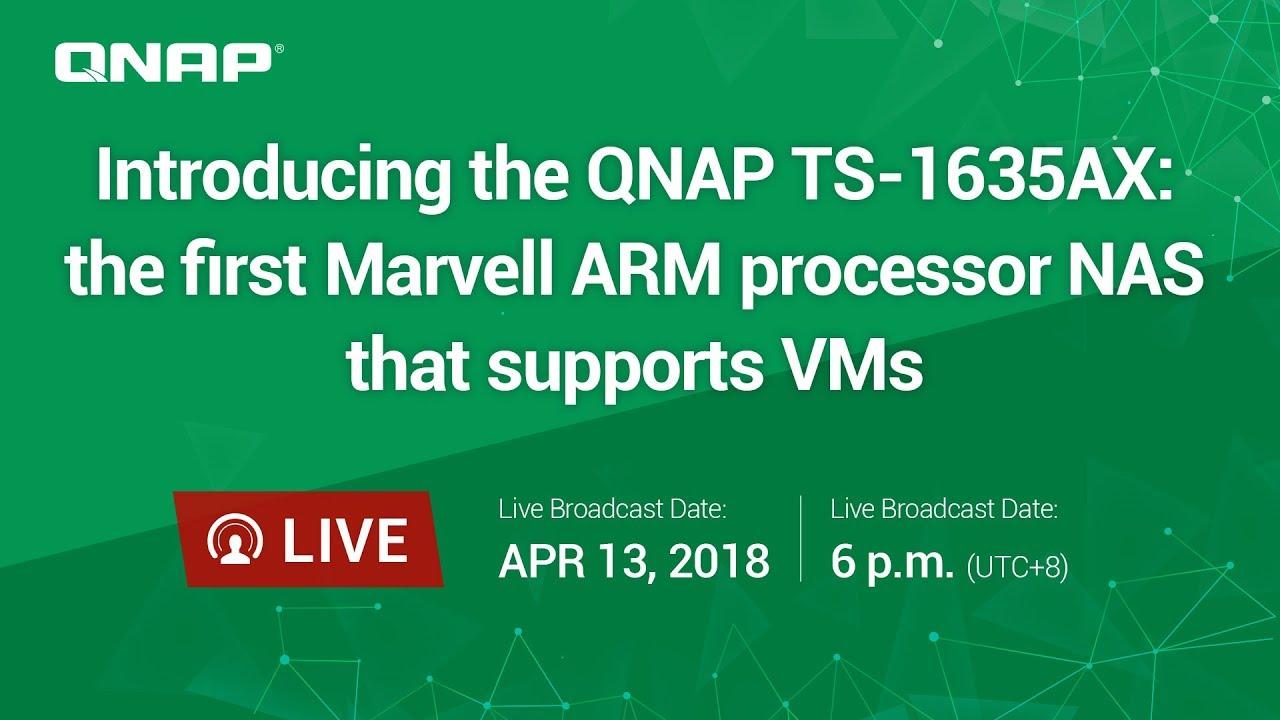 QNAP TS-1635AX-8G 16 Bay Diskless NAS Quad-Core ARMADA 1 6