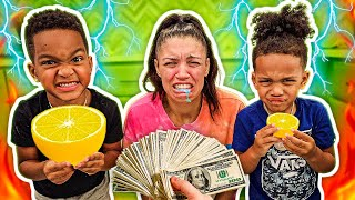 LAST TO STOP EATING LEMONS WINS $1,000 FOOD CHALLENGE WITH THE PRINCE FAMILY!!