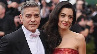 Amal Clooney Flaunts Gorgeous Pregnant Look While George Talks Pending Fatherhood