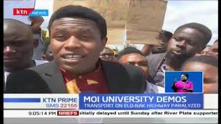 Moi University School of Law stage protests over incompetent administration