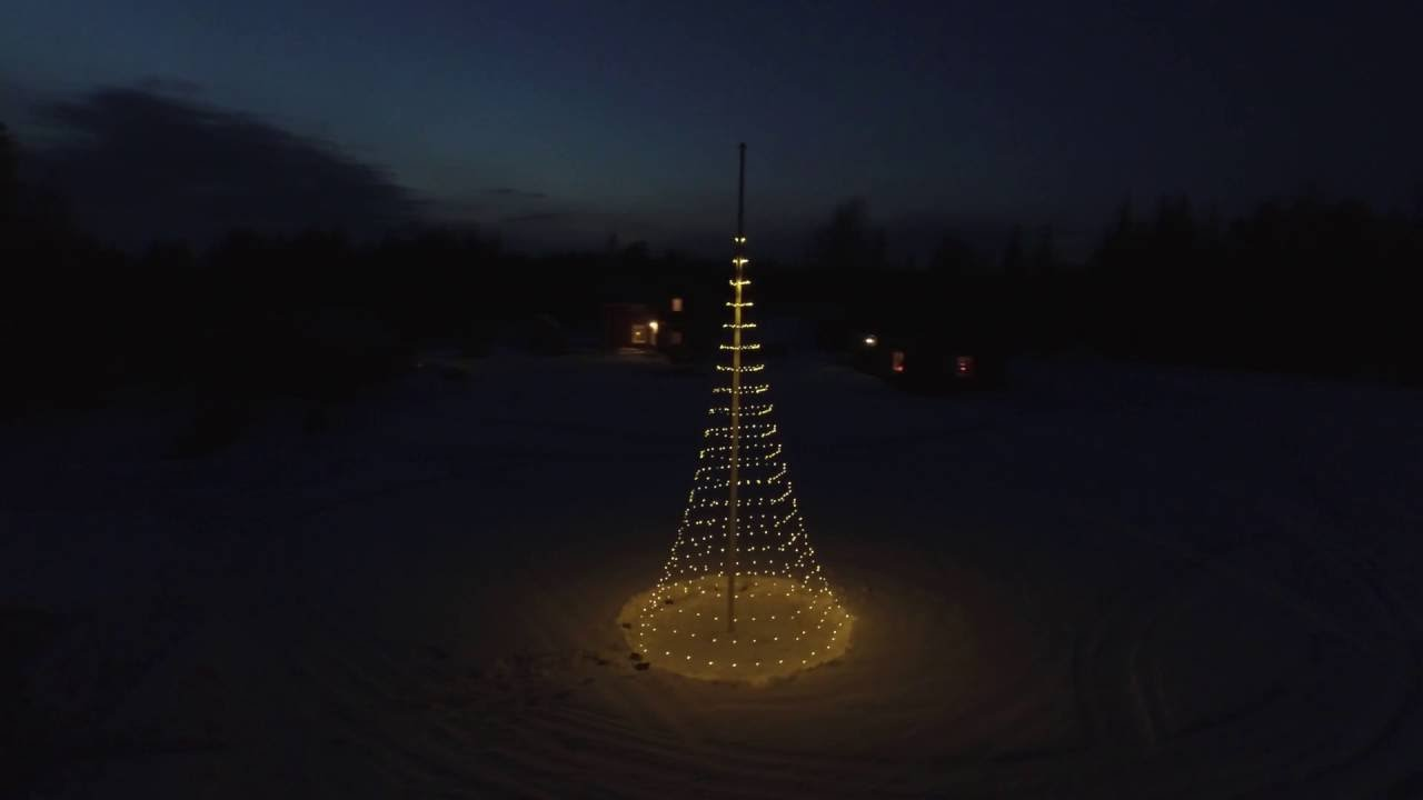 Kerstverlichting Vlaggenmast Glowtree 800 Led 3d Warmwit